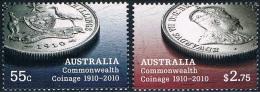 Australie - Centenaire De La Première Monnaie Du Commonwealth D'Australie 3224/3225 ** - 2010-... Elizabeth II
