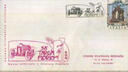 BUSTA FILATELICA UFS 58 TARGA FLORIO 1974 TIRATURA LIMITATA TARGHETTA - Automobilismo