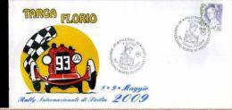 BUSTA FILATELICA PROVA DI STAMPA 93 TARGA FLORIO CIRCOLO TERMINI IMERESE 24/25 - Automobilismo