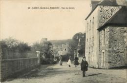 50 ST / SAINT JEAN LE THOMAS - VUE DU BOURG ( BELLE ANIMATION - ENFANTS ) - France