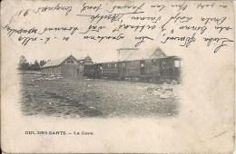 CUL-DES-SARTS : La Gare - RARE CPA - Cachet de la poste 1905