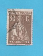 PORTUGAL N° 247 A (o) (YT) 30 C. BRUN DENTELE 15 X 14 VALEUR 30,00 EUROS - Usado