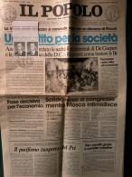 Giornali - Il Popolo -Annullo - Festa Nazionale Dell'Amicizia - 1981- Il Pensiero Di Sanremo- 13-11-1921. - Materiali