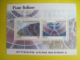Italy. Block Of Two. Avvento Anno Duemilla. Millenium. 2000 - 6. 1946-.. Republic