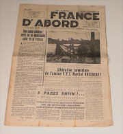 France D'Abord Du 2 Septembre 1948 - Revues & Journaux