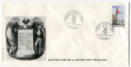 FRANCE THEME REVOLUTION FRANCAISE ENVELOPPE OBLITERATION 51 VALMY 16-17 SEPTEMBRE 1989 BATAILLE DE VALMY 20-9-1792 - Franz. Revolution