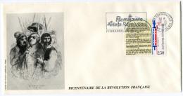 FRANCE THEME REVOLUTION FRANCAISE ENVELOPPE OBLITERATION 93  ROMAINVILLE 28-12-89 AVEC FLAMME ROMAINVILLE FETE LA...... - Franz. Revolution
