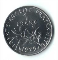 ** 1 FRANC SEMEUSE 1979 FDC ** - Francia