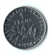 ** 1 FRANC SEMEUSE 1998 BU  ** - Francia