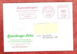 Karte, Absenderfreistempel, Rosenberger, 60 Pfg, Moenchengladbach 1986 (68372) - BRD