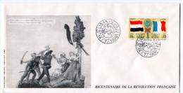 EGYPTE PA 203 THEME REVOLUTION FRANCAISE ENVELOPPE OBLITERATION LE CAIRE 14-7-1989 - Franz. Revolution