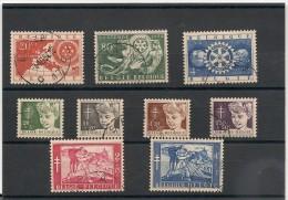 BELGIQUE Année 1954 N°Y/T : 952/960 Oblitérés Côte : 25,00 €