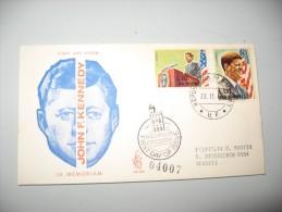 BUSTA PRIMO 1° GIORNO FRANCOBOLLI SAN MARINO 1964 JFK KENNEDY - Italie