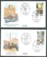 1981 ITALIA FDC ROMA EUROPA FOLCORE SIENA E MAROSTICA NO TIMBRO DI ARRIVO - EDG24