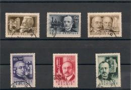 BELGIQUE Année 1955 N°Y/T : -973/978 Oblitérés Côte: 26,00 €