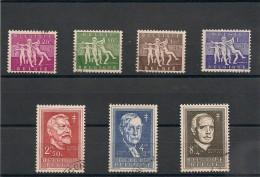BELGIQUE Année 1955 N°Y/T : -979/985 Oblitérés Côte: 40,00 €