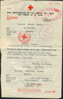 1942 Guernsey Red Cross Censor Message / Croix Rouge - Guernsey