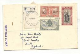 1946 FDC R-Brief Nach England - 1907-1947 Dominion