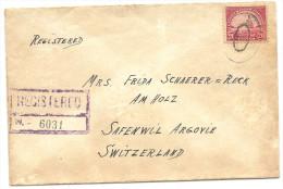 1928 R-Brief In Die Schweiz Diverse Stempel!! - United States