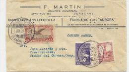 1929 Flugbrief Mit Vignette HAGA PATRIA - Mexique