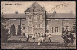 JODOIGNE - GELDENAKEN - HOPITAL - ANIMATION - Expédiée 1902 - Jodoigne