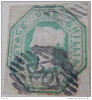 GB QV 1/- Green SG54 - SG56 Embossed CV=£1000 One Shilling 1847-54 V.Good Used - 1840-1901 (Victoria)