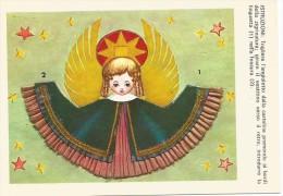 K1607 Cartolina Adesiva Da Ritagliare - Angelo Angel Ange - Illustrazione Illustration / Non Viaggiata - Cartoline