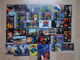 LOT OF 34 CARDS  X MEN/ BATMAN/ STAR WARS/ THE LOST WORLD/ SPIDERMAN /ANTZ ETC... - Cinema