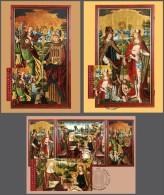 lie2140462 Liechtenstein 2014 Painting Winged altar MC Michel Nr.1707-1709