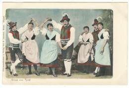 "Merano - ""Originalaufnahme U. Verlag Von B. Johannes, Meran - Gruss Aus Tirol"" - Costumes"