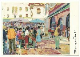 """"""" Riva Il Mercato Di Piazza Delle Erbe""""  Illustratore A. Bombardelli - Trento"""