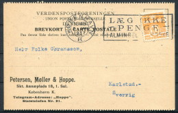 1937 Denmark Petersen, Moller & Hoppe Copenhagen Postcard - Sweden - Covers & Documents