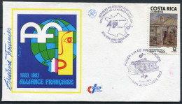 1983 Costa Rica Alliance Francaise France First Day Cover SIGNED - Costa Rica
