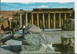 Liban , Baalbeck, le temple de Bacchus , cpsm, petite animation, 2 scans, ed metca Beirut