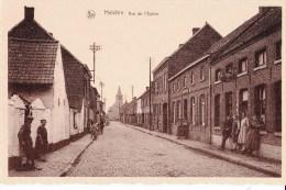 HELCHIN - Rue De L´Eglise Carte Très Animée - Espierres-Helchin - Spiere-Helkijn