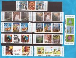 2000-2007  KOSOVO SERBIA SRBIJA EUROPA CEPT COMPLETE LUX STAMPS PLUS APPENDIX-LABEL NEVER HINGED - Colecciones