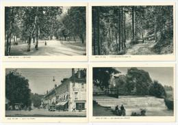 Cpa: 88 SAINT DIE (4 Cartes) Quai Du Parc (Marchand De Glaces) Le Parc, La Vanne De Pierre, Promenade St Martin. - Saint Die