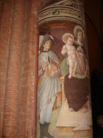 Madonna E S.LUCIO Protettore Dei CASARI - 1463 Leonardo Vidolenghi Da Marzano - Chiesa Del CARMINE - PAVIA /  Fotografia - Religion & Esotericism