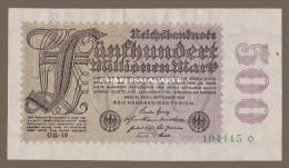 1923 GERMANY 500 MILLIONEN MARK KRAUSE 110f UNC/EXCELLENT CONDITION - [ 3] 1918-1933 : Weimar Republic