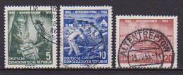 GERMANIA DEMOCRATICA DDR  1955 RIFORMA AGRARIA UNIF. 481-483 USATA VF - [6] República Democrática
