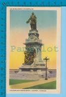 Quebec Canada ( Monument Champlain  Lib: Garneau) Postcard Carte Postale Recto/verso - Histoire