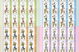 Taiwan 2014 Koji Pottery- Peace During All 4 Seasons Stamps Sheets Peony Lotus Plum Blossom Camellia Flower - Blocks & Sheetlets