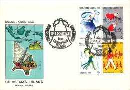 Christmas Island  1977  Christmas Issue  Unaddressed FDC - Christmas Island