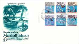 MARSHALL ISLANDS  1984  Definitive Issue  Maps Of Islands  Sc 35-8, 44, 49A  FDC - Marshall Islands