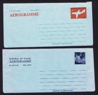 NAURU  Two Unused 10 Cent Aerogrammes - Nauru