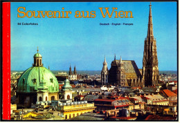 Broschüre / Heft : Souvenir Aus Wien  -  64 Colorfotos  -  Von Ca. 1980 - Vienna & Salzbourg