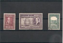 BELGIQUE Année 1956 N°Y/T : 987/989 Oblitérés