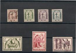 BELGIQUE Année 1956 N°Y/T : 998/1004 Oblitérés Côte : 24,00 €