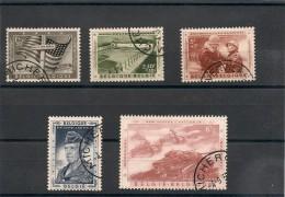 BELGIQUE Année 1957 N°Y/T : 1032/1036 Oblitérés Côte : 18,00 €
