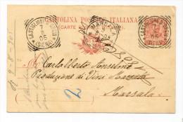 Un annullo per paese - Castiglione d'Orcia - Siena - Tondo-riquadrato del 1905 - punti 5